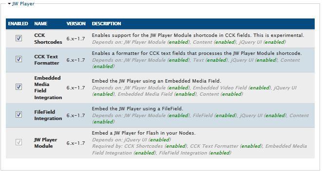 Drupal 6 JWPlayer – TabooCat's Blog